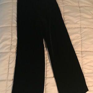 Georgeous lines velvet wide leg pants